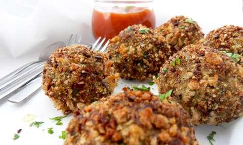Kippengehaktballetjes met spinazie uit de oven